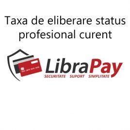 Taxa status profesional curent