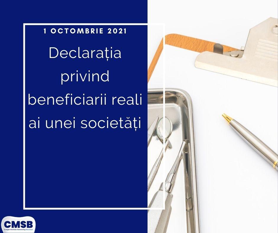Depunerea Declarației privind beneficiarii reali ai unei societăți – Termen limită: 1 octombrie 2021